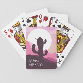 Cactus Desert custom name & text playing cards