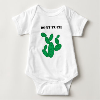 Cactus - don't touch. baby bodysuit