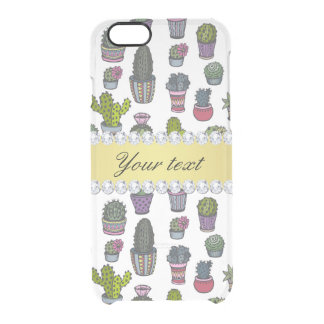 Cactus Faux Gold Bling Diamonds Clear iPhone 6/6S Case