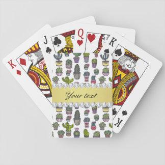 Cactus Faux Gold Bling Diamonds Poker Deck