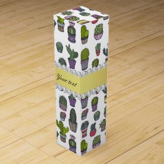 Cactus Faux Gold Bling Diamonds Wine Box
