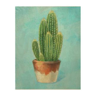 Cactus Fever Wood Print