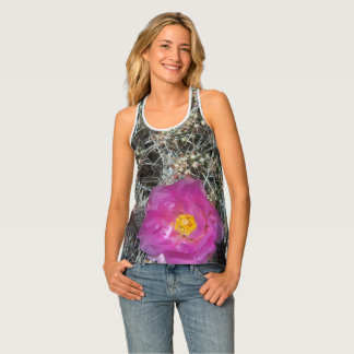 Cactus flower in bloom singlet