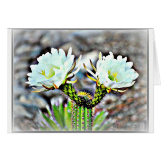 Cactus Flower Note Card