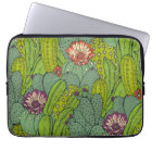 Cactus Flower Pattern Laptop Sleeve