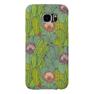 Cactus Flower Pattern Samsung Galaxy S6 Case