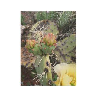 Cactus Flower Wood Poster