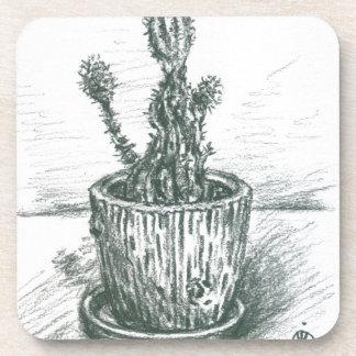 cactus, flowers, nature , plants , pot, magic drink coasters