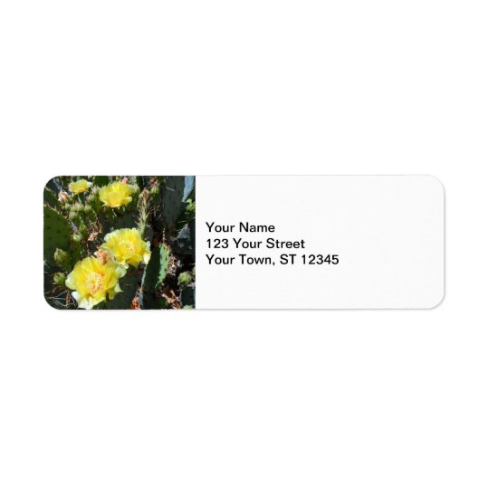 Cactus Flowers Return Address Label
