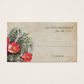 Cactus Flowers Seating Cards