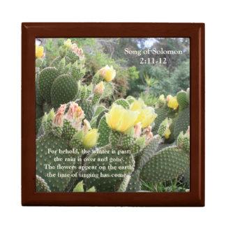Cactus Flowers Song of Solomon Jewelry Box