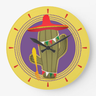 Cactus fork Mexican southwestern kitchen clock