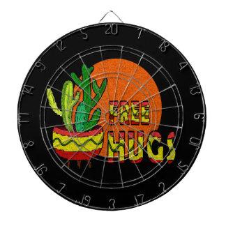 Cactus - free hugs dartboard