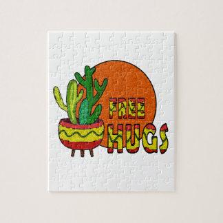 Cactus - free hugs jigsaw puzzle