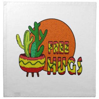 Cactus - free hugs napkin