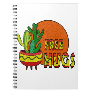 Cactus - free hugs notebook