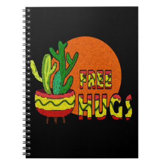 Cactus - free hugs notebooks