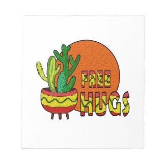Cactus - free hugs notepad