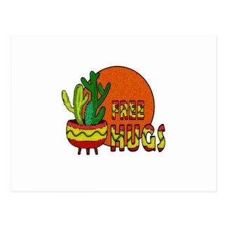 Cactus - free hugs postcard