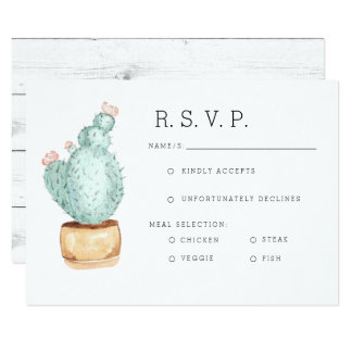 Cactus Garden | Watercolor RSVP Card