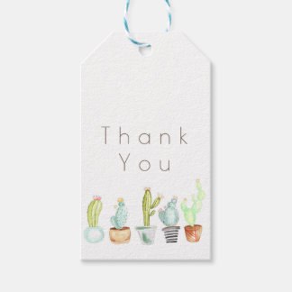Cactus Garden | Watercolor Thank You Gift Tags