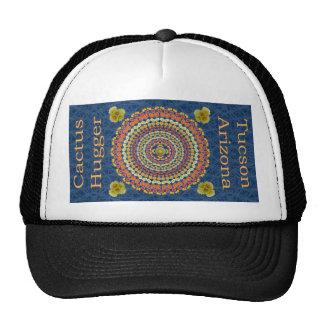 Cactus Hugger Hat with Barrel Cactus Mandala 2