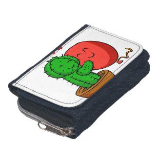 Cactus hugging balloon wallet