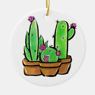 Cactus - joy ceramic ornament