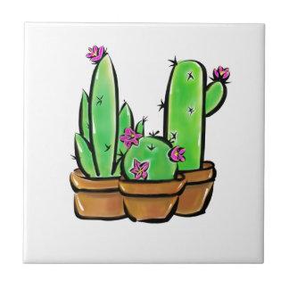 Cactus joy ceramic tile