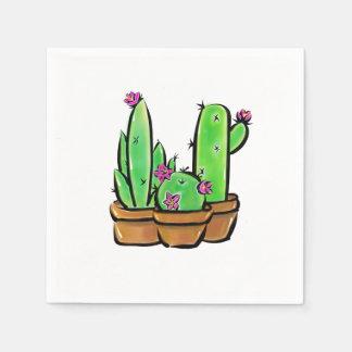 Cactus joy disposable napkin
