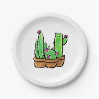 Cactus joy paper plate