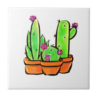 Cactus joy - warm hue ceramic tile