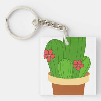 cactus key ring