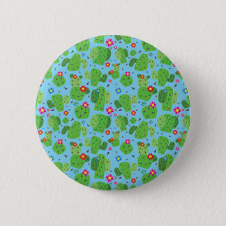 Cactus Me Outside (Blue) - Button