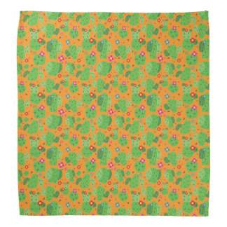Cactus Me Outside (Orange) - Bandana