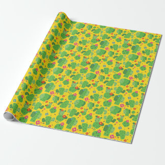 Cactus Me Outside (Yellow) - Wrapping Paper