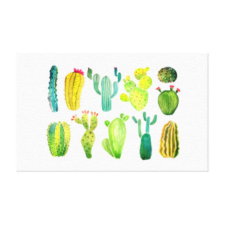 """Cactus"" Media Type: Premium Wrapped Canvas(Gloss) Canvas Print"