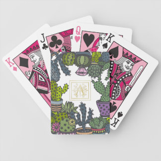 Cactus Monogram A Bicycle Playing Cards