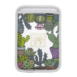 Cactus Monogram A iPad Mini Sleeves