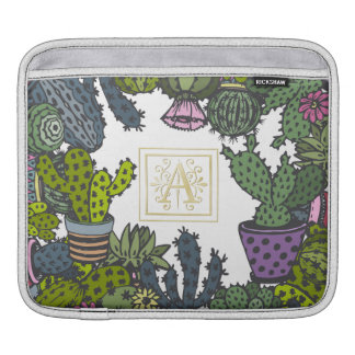 Cactus Monogram A iPad Sleeve