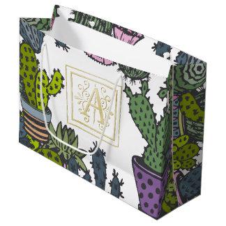 Cactus Monogram A Large Gift Bag