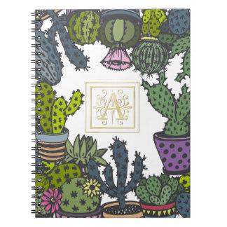Cactus Monogram A Notebook