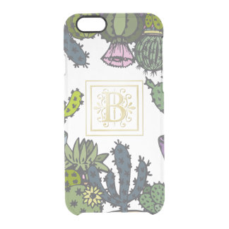 Cactus Monogram B Clear iPhone 6/6S Case