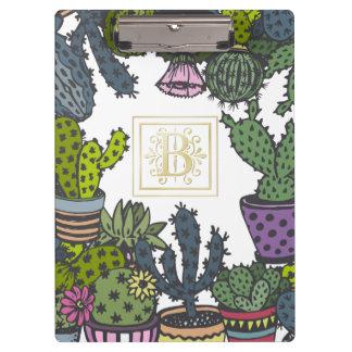 Cactus Monogram B Clipboard