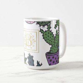 Cactus Monogram B Coffee Mug
