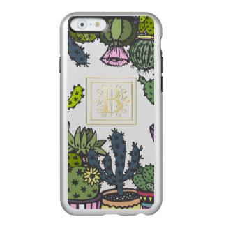 Cactus Monogram B Incipio Feather® Shine iPhone 6 Case
