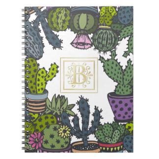 Cactus Monogram B Notebook
