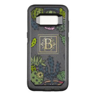 Cactus Monogram B OtterBox Commuter Samsung Galaxy S8 Case