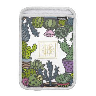 Cactus Monogram B Sleeve For iPad Mini