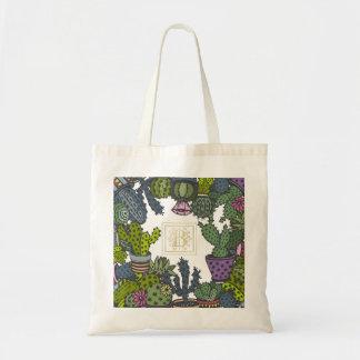 Cactus Monogram B Tote Bag